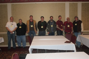 Tournament Participants From left to right Chris Bennett (host), Malcolm Bailey, Joe Brecher, Ron Bingham, Will Pedro, Chris Long, Todd Wiatt, Jeff Wiltrout and Mike Kelly (not pictured)